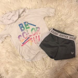 Justice Active Outfit Size 5